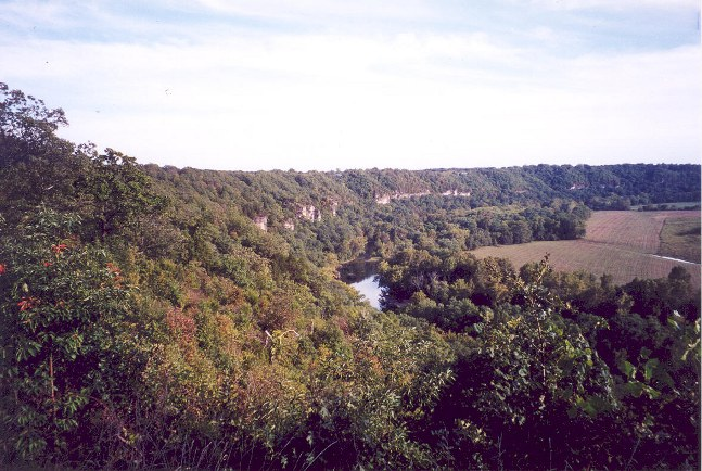Beautiful Gasconade Valley in Missouri